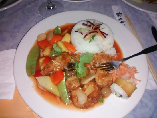 Asia Caribe : Main course meal.