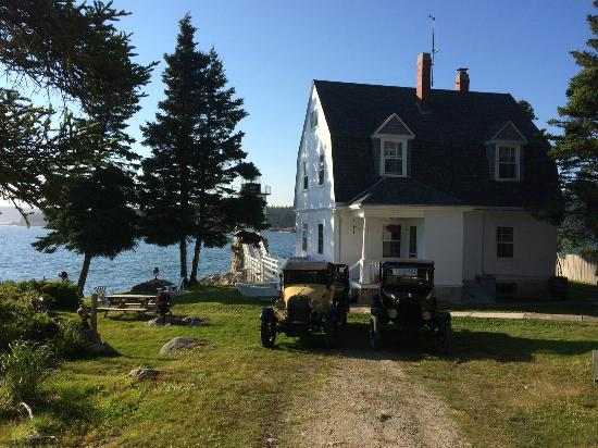 The Keeper's House: Antique cars in front of the house