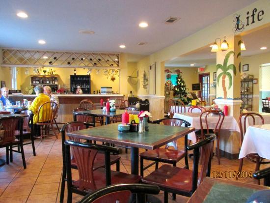 Interior picture of bayview gourmet restaurant ocean
