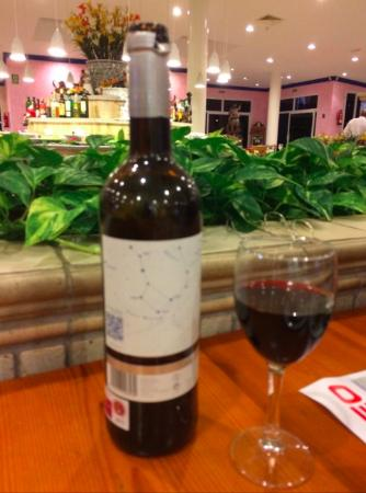 Rodeo: The wine we ordered