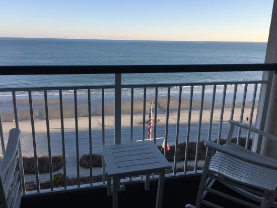 sunrise from our room picture of hampton inn suites. Black Bedroom Furniture Sets. Home Design Ideas
