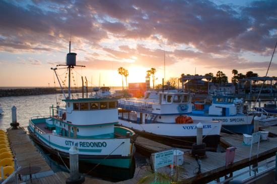 Redondo Beach, CA: Redondo Harbor at Sunset