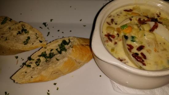 Big Chef Steakhouse: clam and corn chowder with bacon