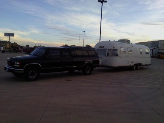 Holiday Inn Express Hotel & Suites Clovis : My GMC and new/old Argosy at Tractor Supply next door