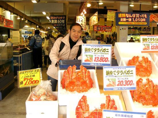 Саппоро, Япония: ปูทาราบะ ไซด์ต่างๆ ราคาก็แตกต่างกันครับ
