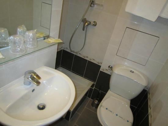 Hotel de la Felicite : Salle de bain avec douche