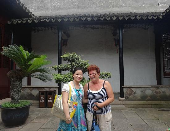 with Chinese girl in Tuisi Garden