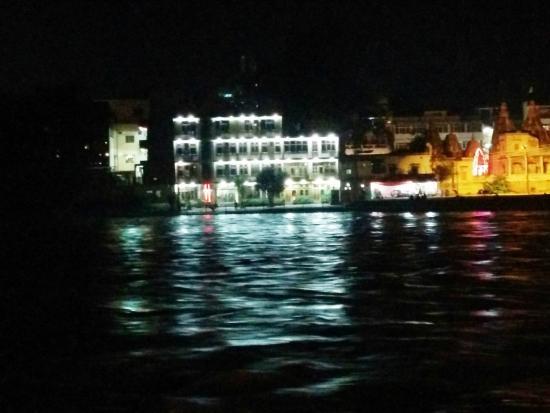 Hotel Aditya : View from Opposite Ghat