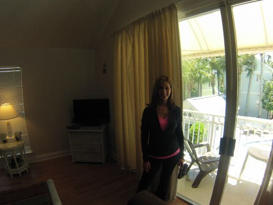 Nantucket Rainbow Cottages: Me standing by the window in the living room