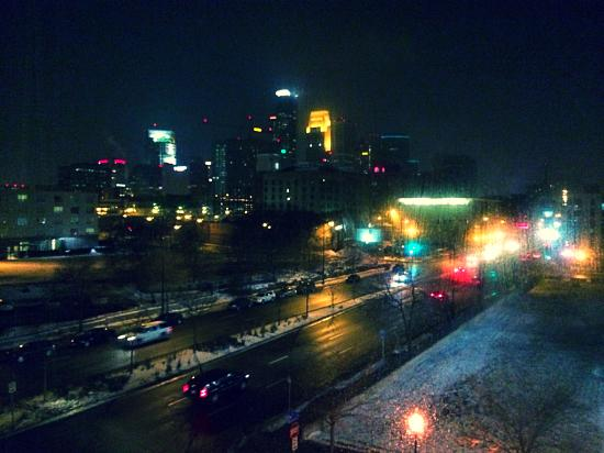 aloft Minneapolis: photo is kinda fuzzy from taking it thru the window, but the views are fantastic