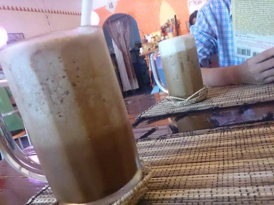 Peak Cafe: Super Calcium Mocha Frappe and Iced Cappuccino while waiting...