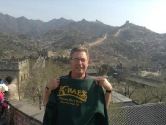 K-Rae's Waterway Bar & Grille : Skip at great wall of China
