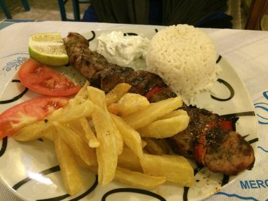 Alkyona Sunset Restaurant: Lamb on the spit