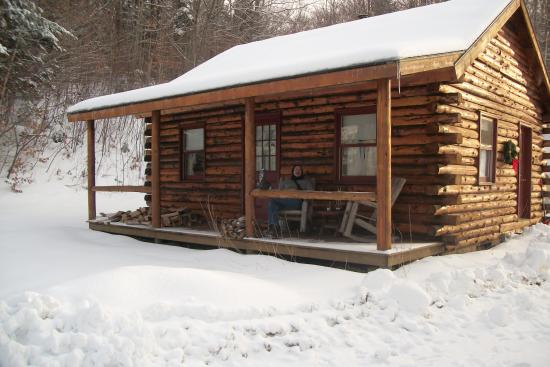 Birch Meadow Luxury Log Cabins & B&B: The Eagle's Nest Front View