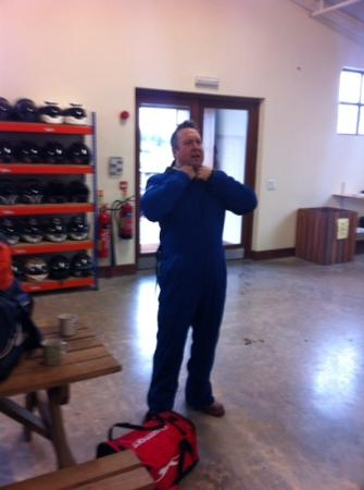 Mountain Mayhem: rich Philpotts dons the protective clothing