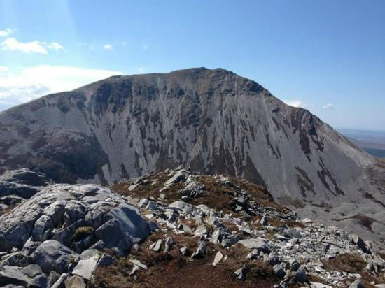 Mount Errigal : View of Big Errigal from Errigal Beag  (Wee Errigal)