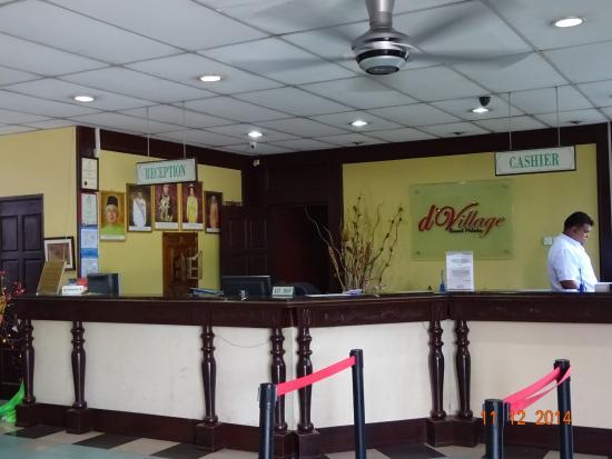 d'Village Resort : The reception