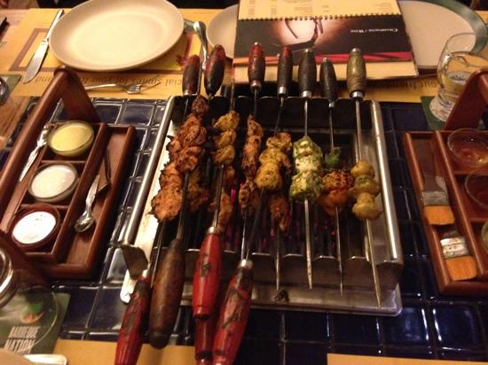 Barbeque Nation : careful not to let the food burn
