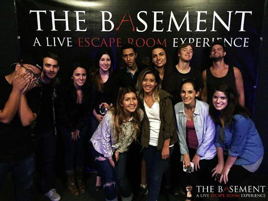 some happy customers picture of the basement a live escape room rh tripadvisor com the basement los angeles club the basement los angeles escape room
