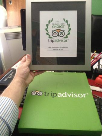 Malalcahuello Thermal Hotel & Spa: Premio TripAdvisor 2014