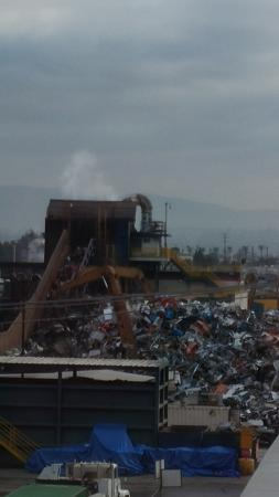 Embassy Suites by Hilton Anaheim North : At 7am, LOUD metal scrap yard was already going