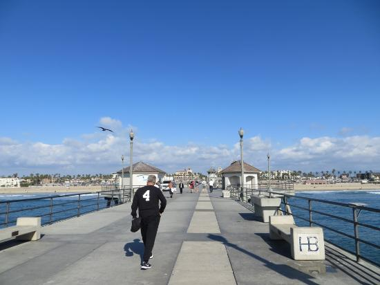 Looking towards downtown Huntington Beach from the pier