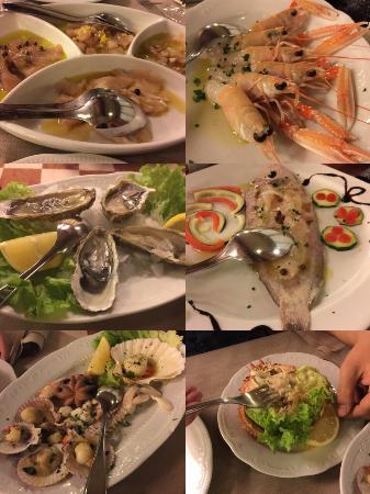 Ristorante Pizzeria La Perla Rosa: Un po di antipasti di pesce!!