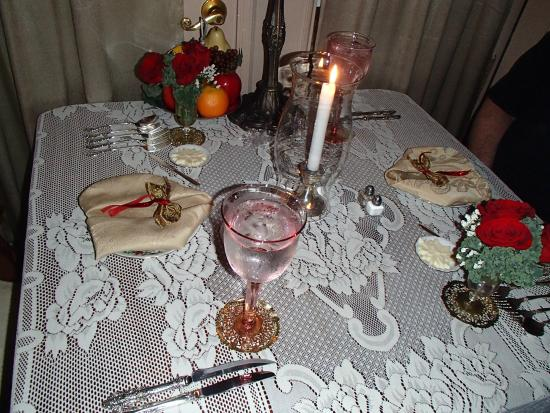 Fort Fairfield, ME: Gorgeous table setting