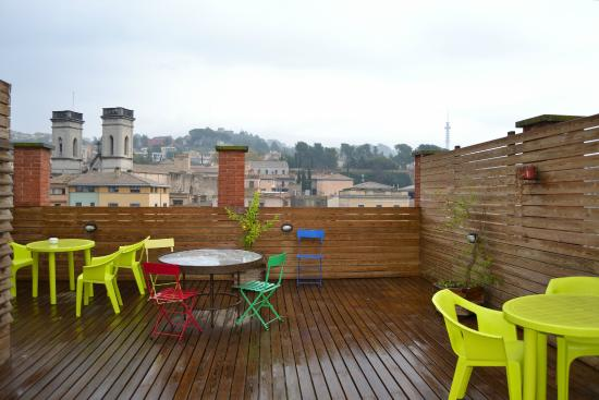 Equity Point Girona Hostel: Вид с террасы