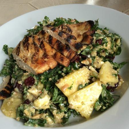 Amuse Bouche: Kale Quinoa Salad (with added chicken)