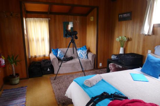 Okarito Beach House : Vue de la chambre côté divan
