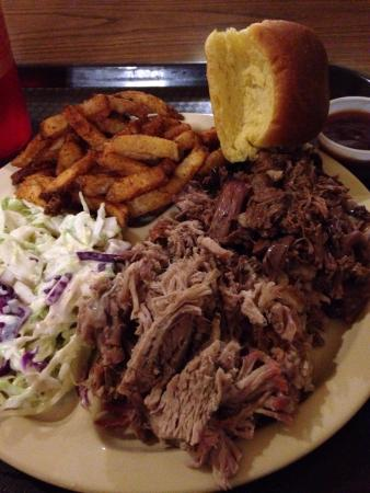 Big Stuff Barbecue : Beef, pork and sides. Delish. Chopped and pulled right in front of you. Juicy is am understateme