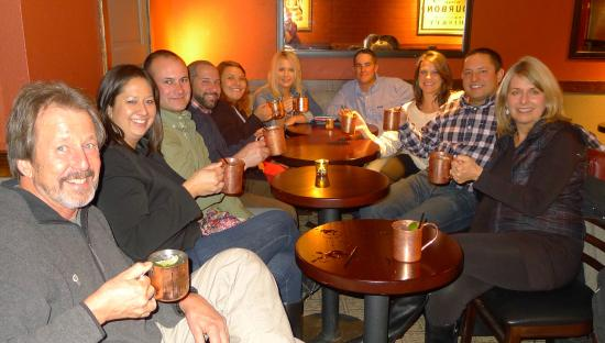 Local Table Tours: Cheers! Moscow mules at Lisence No 1 on a company holiday party tour