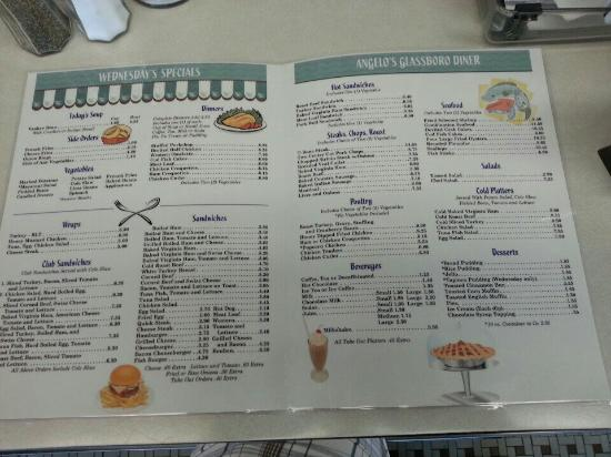 Glassboro, NJ: Lunch/Dinner menu