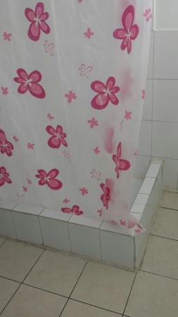 Hostal Jose Luis: Cuarto de baño viejo y con una ducha que no da agua caliente más de 2 o 3 minutos.