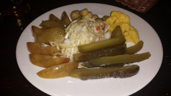 Dublin Irish Pub: Home made pickeled vegetables ...