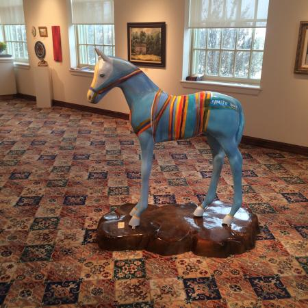 The Kemp Center for the Arts: Nice horse ooohhhh that is a donkey