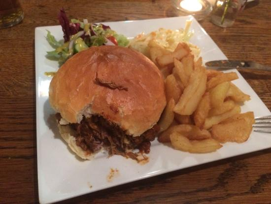 Who'd Have Thought It Inn: Burger with pulled pork