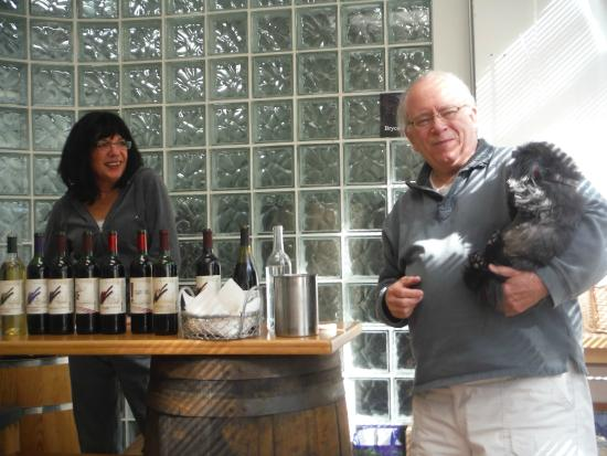 Murielle Winery : The owners and one of their dogs.  Such nice people.