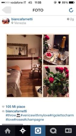 Rigoletto Charm: Rigoletto Room red roses and champagne! ❤️ thanks