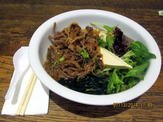 Don Don Japanese: beef udon order