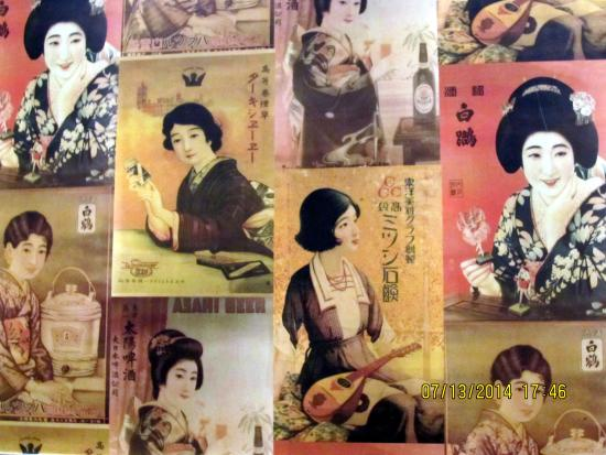 decor on walls of don don japanese