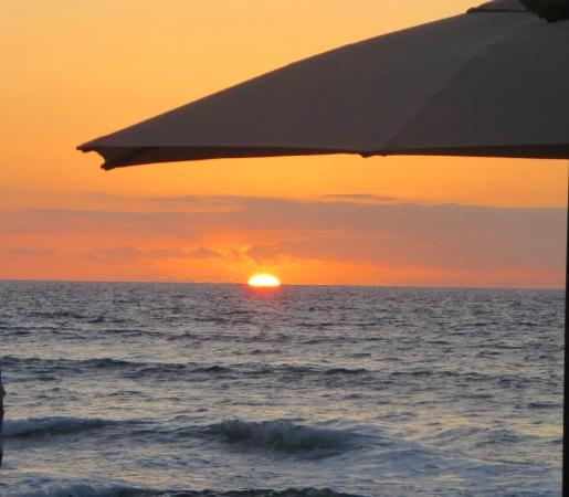 Beach Tree Bar & Grill: sunset at The Beach Tree