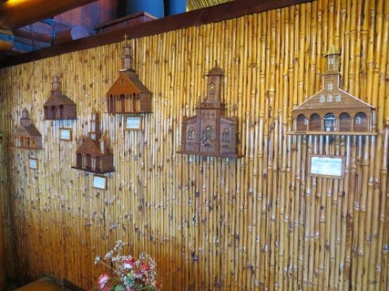 Panamericana Hotel Ancud: Replicas (in the hotel) of wooden churches