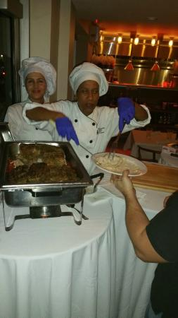 Village Cafe: Chef's hard at work - making guests happy