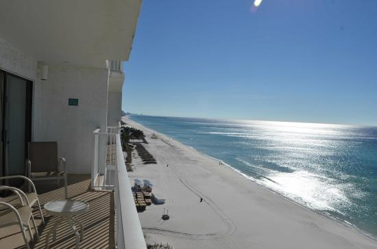 Landmark Holiday Beach Resort : Balcony view from the 10th floor.