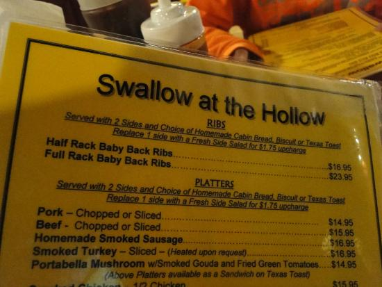 The Swallow at the Hollow: Whatta you have!