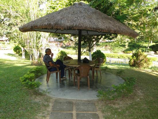 Dhanshree Resort: Enjoying outside the cottage