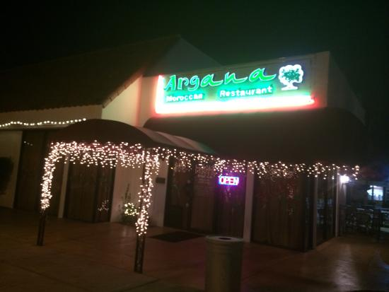 Outside at night picture of argana moroccan restaurant for Argana moroccan cuisine