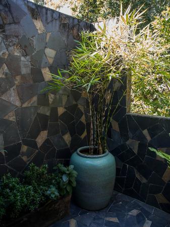 Gecko Villa: Outdoor shower!    More than lovely!